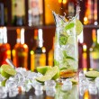Mojito cocktail drink on bar counter — Stock Photo #72501887