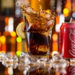 Prague, CZECH REPUBLIC - MAY 11, 2015 : Can of Coca-Cola with glass on ice cubes. Coca-Cola is the one of the worlds favourite soft drinks. — Stock Photo #72501943