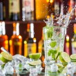 Mojito cocktail drink on bar counter — Stock Photo #73213183