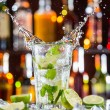 Mojito cocktail drink on bar counter — Stock Photo #73213229