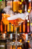 Martini drink served on bar counter — Stock Photo