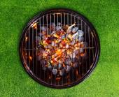 Barbecue grill with skewers — Stock Photo