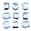 Ice cubes collection, isolated on white background — Stock Photo #74039677