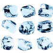 Ice cubes collection, isolated on white background — Stock Photo #74039681
