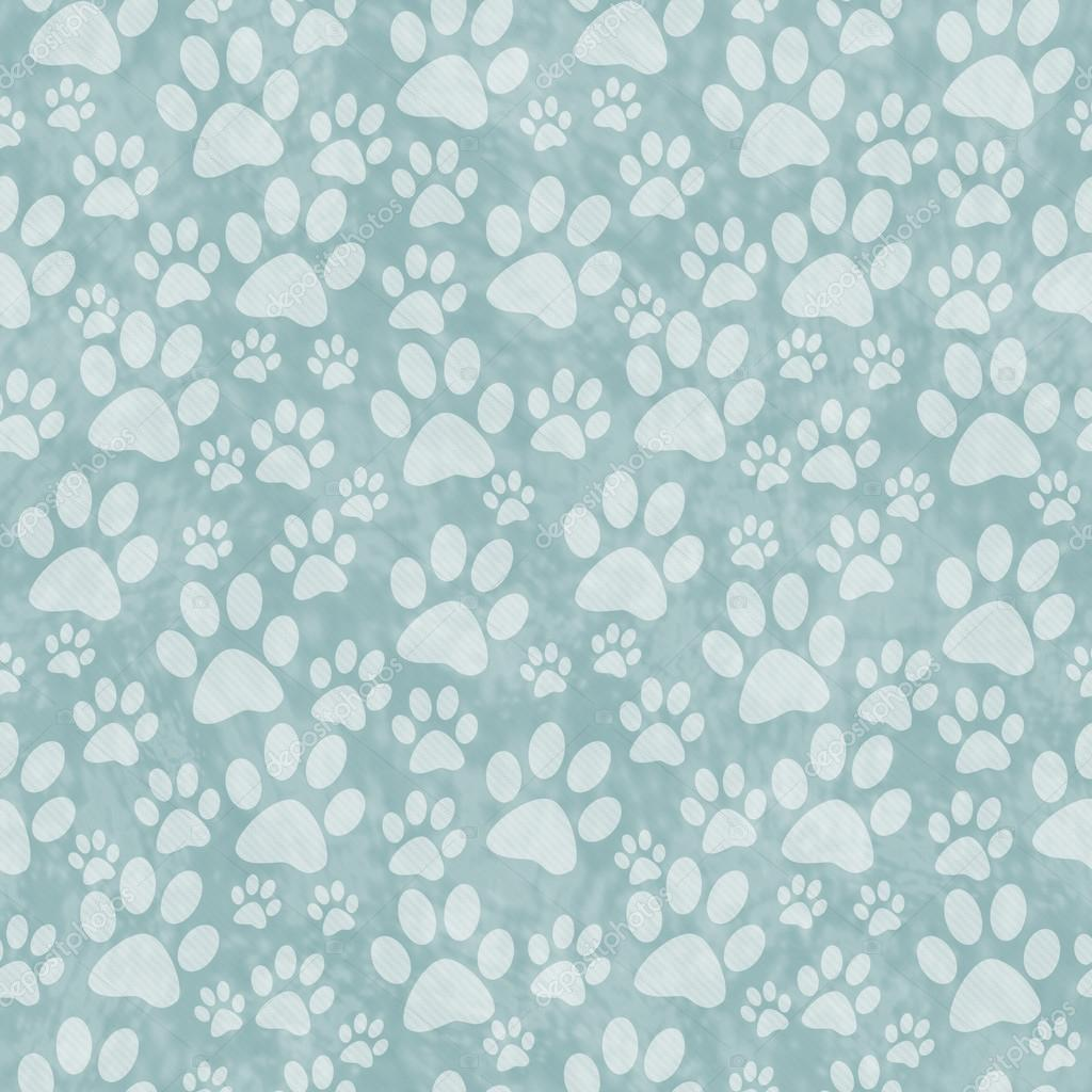 Green Doggy Paw Print Tile Pattern Repeat Background ...