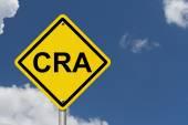 CRA Warning Sign — Stock Photo