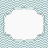 Blue and White Chevron Zigzag Frame Background — Stock Photo