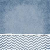 Square Blue and White Zigzag Chevron Torn Grunge Textured Backgr — Stock Photo