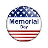 Memorial Day Button — Stock Photo