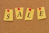Anúncio de venda — Foto Stock