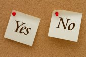 Yes versus No — Stock Photo
