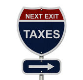 Taxes this way — Foto Stock
