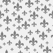 Gray Fleur-de-lis Pattern Repeat Background — Stock Photo