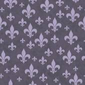 Purple Fleur-de-lis Pattern Repeat Background — Stock Photo