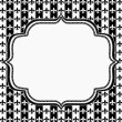 Black and White Fleur De Lis Pattern Textured Fabric with Embroi — Stock Photo #52416355