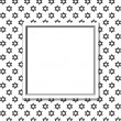 Постер, плакат: Black and White Star of David Patterned Background with Frame