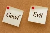Good versus Evil — Stock Photo