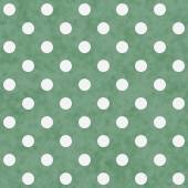 Green and White Large Polka Dots Pattern Repeat Background — Stock Photo