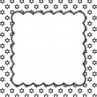 Постер, плакат: Black and White Star of David Patterned Background with Embroide