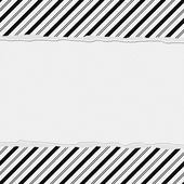 Black and White Striped Frame with Torn Background — Stock Photo