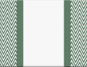 Green and White Chevron Zigzag Frame with Ribbon Background — Stock Photo