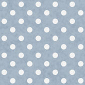 Blue and White Large Polka Dots Pattern Repeat Background — Stock Photo