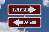 Future versus Past — Stock Photo