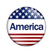 An America Button — Stock Photo