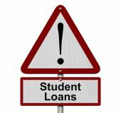 Student Loans Caution Sign — Stock Photo
