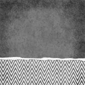 Square Gray and White Zigzag Chevron Torn Grunge Textured Backgr — Stock Photo