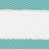 Teal and White Torn Chevron Frame Background — Stock Photo