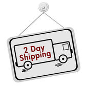 Two Day Shipping Sign — Stock Photo