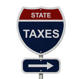 State Taxes this way — Stockfoto