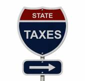 State Taxes this way — Stock fotografie