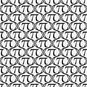 Repita el símbolo pi blanco y negro de fondo — Foto de Stock