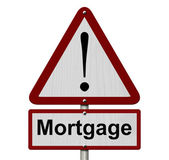 Mortgage Caution Sign — Stock Photo