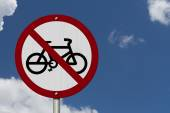 No Bikes Allowed Sign — Stock Photo