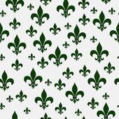 Green Fleur-de-lis Pattern Repeat Background — Stock Photo
