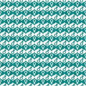 Teal and White Male and Female Gender Symbol Repeat Pattern Back — Stock Photo