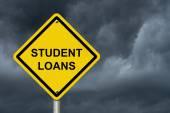 Student Loans Warning Sign — Stock Photo