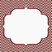Red and White Chevron Zigzag Frame Background — Foto Stock