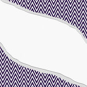 Purple and White Chevron  Zigzag Frame with Torn Background — Stock Photo