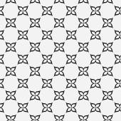 Black and White Flower Repeat Pattern Background — Stock Photo