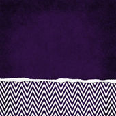 Square Purple and White Zigzag Chevron Torn Grunge Textured Back — Stock Photo