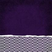 Kwadrat fioletowy i biały zygzak chevron rozdarty nieczysty teksturowanej powrót — Zdjęcie stockowe