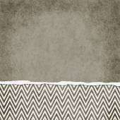 Square Brown and White Zigzag Chevron Torn Grunge Textured Backg — Stock Photo