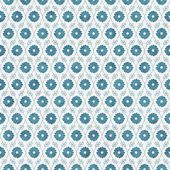 Teal and White Flower Repeat Pattern Background — Stock Photo