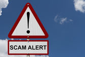 Scam Alert Caution Sign — Stockfoto