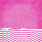 Square Pink and White Zigzag Chevron Torn Grunge Textured Backgr — Stock Photo