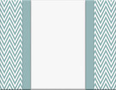 Blue and White Chevron Zigzag Frame with Ribbon Background — Stock Photo